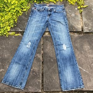 Miss Me Distressed Bootcut Medium Wash Jeans